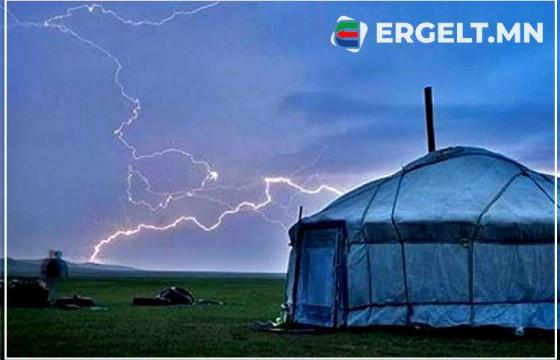 ЦАГ АГААР: Аянга, цахилгаан, үер, усны аюулаас сэрэмжтэй байхыг анхааруулж байна